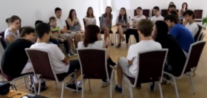 Youth discussing eSafety issues at Romanian Summer School 2012